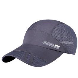 Cap / pet  antraciet grijs