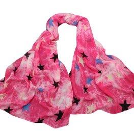 Sjaal ster - roze