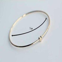 Smalle bangle armband heart - goud
