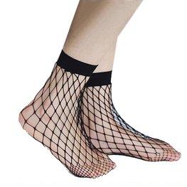 Visnet / fishnet sokken - zwart (groot)
