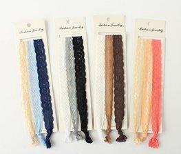 Ibiza stijl elastische haarband kant - div kleuren