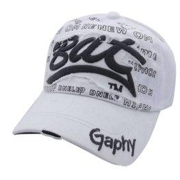 Cap / pet Wit met zwart