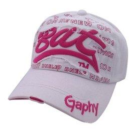 Cap / pet wit met roze