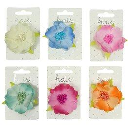 Haarspeld bloem - div. kleuren