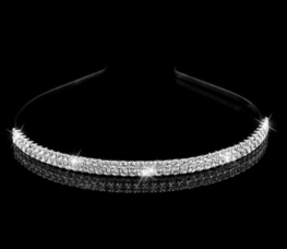 Haarband met 2 rijen strass
