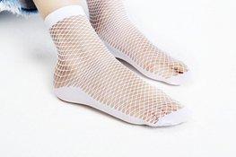 Visnet / Fishnet sokken - wit