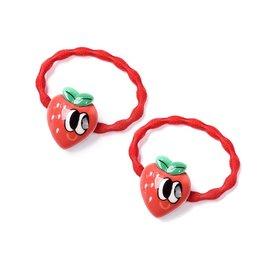 Set/2 stuks haar elastiekjes aardbeien