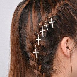Haar Piercings kruis