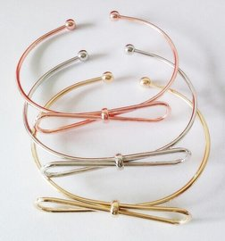 Armband strik - Goud
