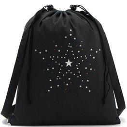 Rugzak / schooltas/ gymtas zwart -sterren