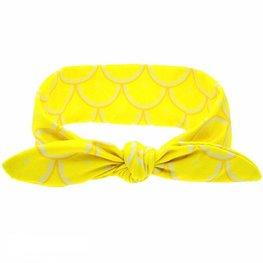 Baby/kinder Knoop haarband lemon