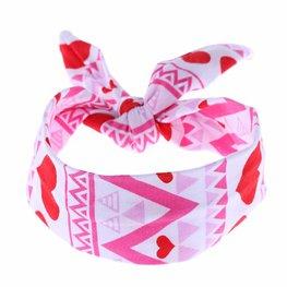 Baby/kinder Knoop haarband hearts