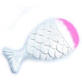 Mermaid make-up kwast - zilver