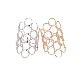 Ring opengewerkte rondjes zilver