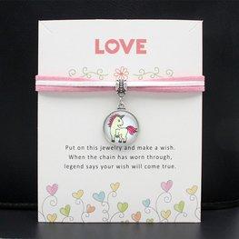 Giftcard met unicorn/eenhoorn armband - 01