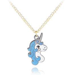 Kinder ketting eenhoorn/unicorn -  Blauw