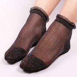 Glitter sokjes gekleurd