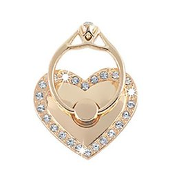Phone ring heart met strass - wit