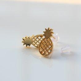 Oorknopjes ananas  - Goud