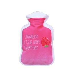 Handwarmer / mini kruik -  roze/aardbei