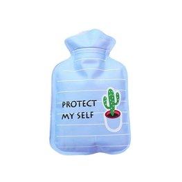 Handwarmer / mini kruik -  Blauw/cactus (1)