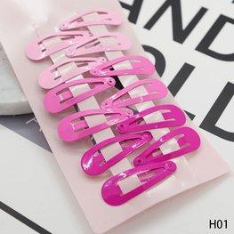 Klik klak speldjes mini 12 stuks - roze