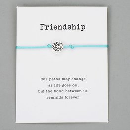 Giftcard met armband friendship
