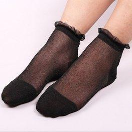 Glitter sokjes zwart/zwart