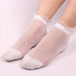 Glitter sokjes wit
