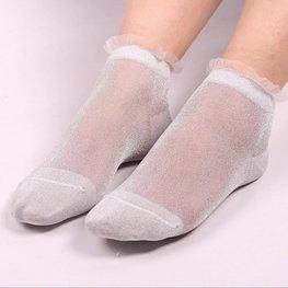 Glitter sokjes zilver