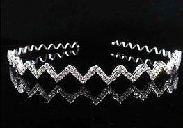 Haarband zigzag strass