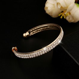 Bangle strass - Goud