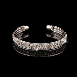 Bangle strass - Zilver