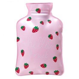 Handwarmer / mini kruik -  roze aardbei
