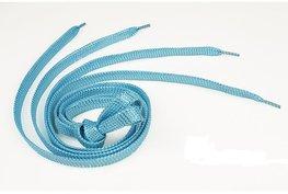 Veters met zilverdraad - Blauw