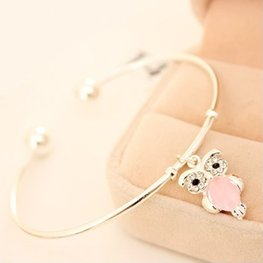 Bangle uil - Zilver