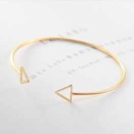 Bangle driehoek - goud