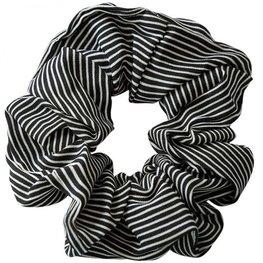 Scrunchie streep - Zwart