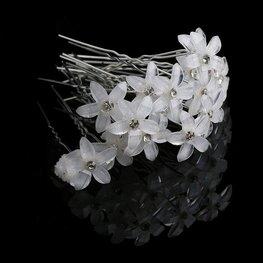 Haarpin bloem - Wit
