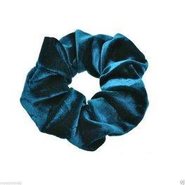 Scrunchie velours - Blauw