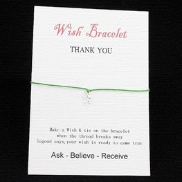 Wishing bracelet star - Groen