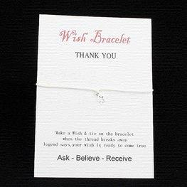 Wishing bracelet star - Wit