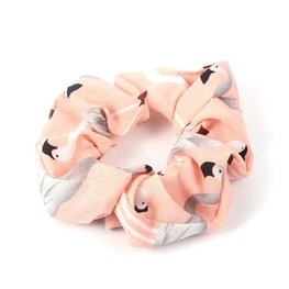 Scrunchie flamingo - Roze