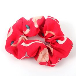 Scrunchie flamingo - Rood