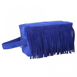 Make-up/Toilet tas franje - Blauw