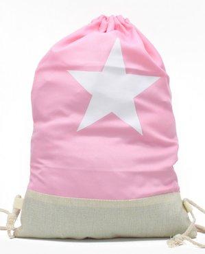 Rugzak / schooltas/ gymtas star - Roze