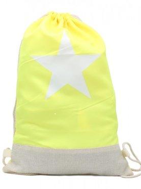 Rugzak / schooltas/ gymtas star - Geel