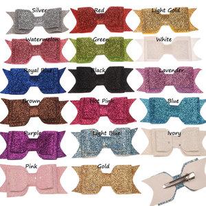 speldjes met gliter strik in diverse kleuren