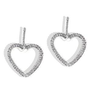 Oorbellen strass hart zilver