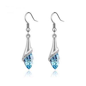 Oorbellen blauw/zilver